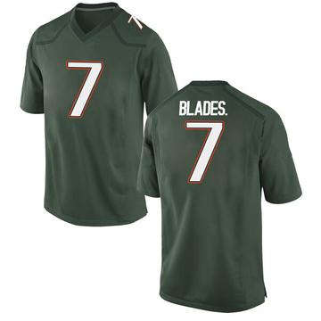Men's Al Blades Jr. Miami Hurricanes Nike Replica Green Alternate College Jersey