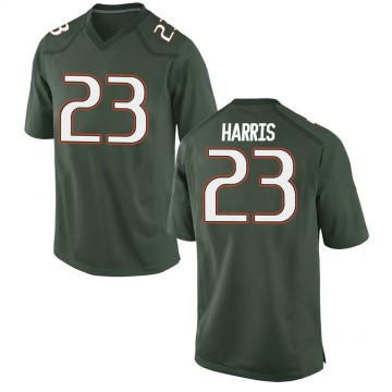 Men's Cam'Ron Harris Miami Hurricanes Game Green Alternate College Jersey