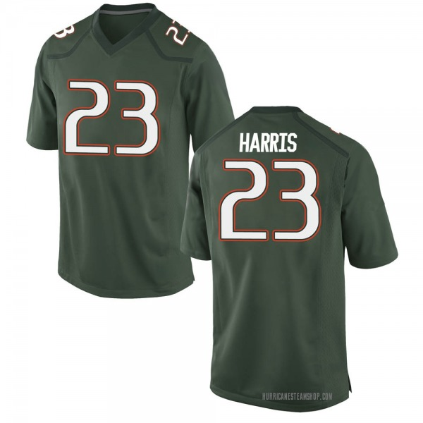 Men's Cam'Ron Harris Miami Hurricanes Nike Game Green Alternate College Jersey