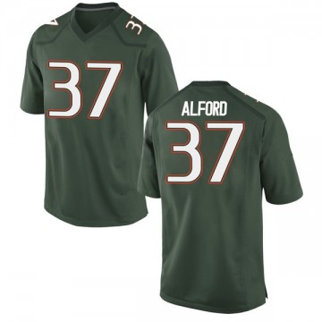 Men's Colvin Alford Miami Hurricanes Nike Replica Green Alternate College Jersey