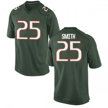 Men's Derrick Smith Miami Hurricanes Nike Game Green Alternate College Jersey