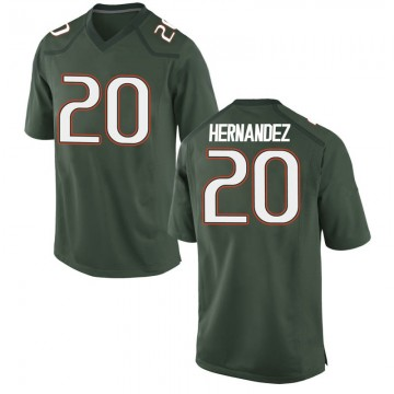 Men's Dewan Hernandez Miami Hurricanes Nike Replica Green Alternate College Jersey