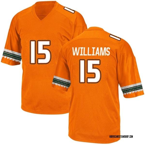Men's Jarren Williams Miami Hurricanes Adidas Replica Orange Alternate College Jersey