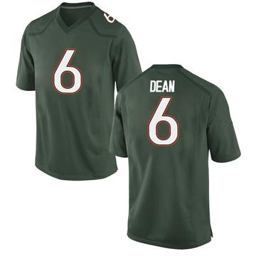 Men's Jhavonte Dean Miami Hurricanes Nike Replica Green Alternate College Jersey
