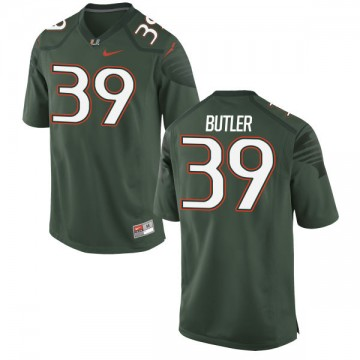 Men's Jordan Butler Miami Hurricanes Nike Limited Green Alternate Jersey -