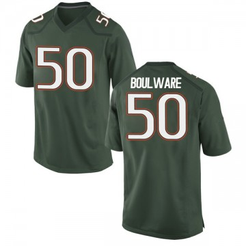 Men's Venzell Boulware Miami Hurricanes Nike Game Green Alternate College Jersey