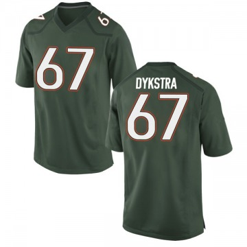Men's Zach Dykstra Miami Hurricanes Nike Game Green Alternate College Jersey