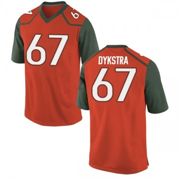Men's Zach Dykstra Miami Hurricanes Nike Game Orange College Jersey