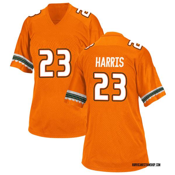 Women's Cam'Ron Harris Miami Hurricanes Adidas Game Orange Alternate College Jersey