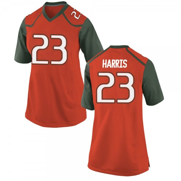 Women's Cam'Ron Harris Miami Hurricanes Nike Game Orange College Jersey