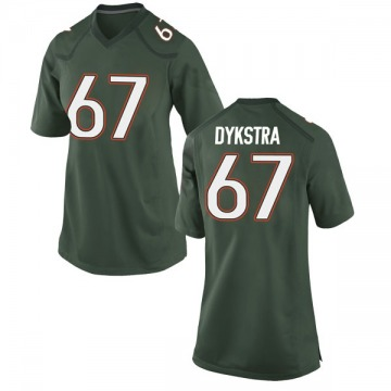 Women's Zach Dykstra Miami Hurricanes Nike Game Green Alternate College Jersey