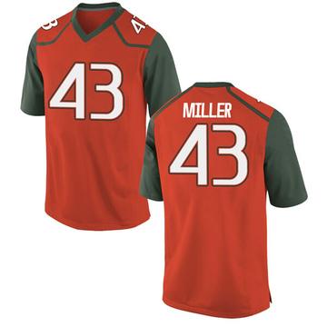 Youth Brian Miller Miami Hurricanes Nike Game Orange College Jersey