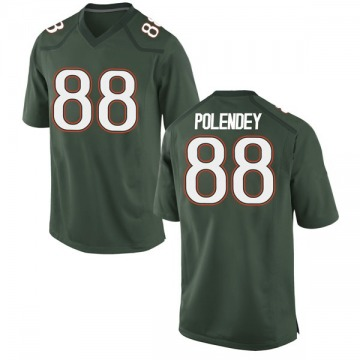Youth Brian Polendey Miami Hurricanes Nike Game Green Alternate College Jersey