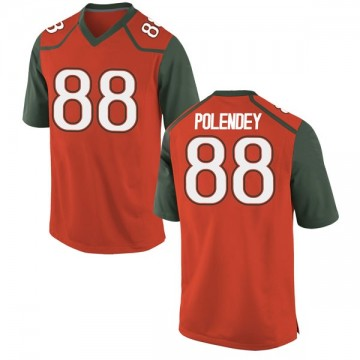 Youth Brian Polendey Miami Hurricanes Nike Game Orange College Jersey