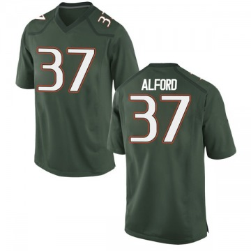 Youth Colvin Alford Miami Hurricanes Nike Game Green Alternate College Jersey