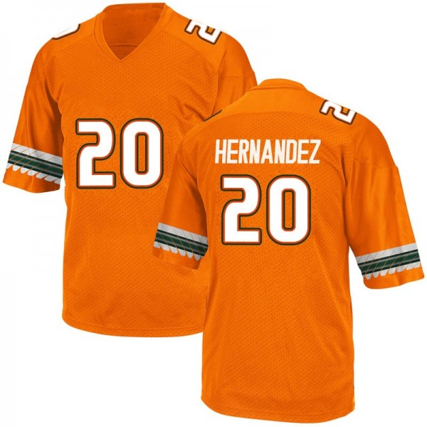 Youth Dewan Hernandez Miami Hurricanes Adidas Replica Orange Alternate College Jersey