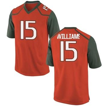 Youth Jarren Williams Miami Hurricanes Nike Game Orange College Jersey