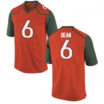 Youth Jhavonte Dean Miami Hurricanes Nike Game Orange College Jersey