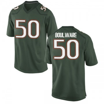 Youth Venzell Boulware Miami Hurricanes Nike Game Green Alternate College Jersey