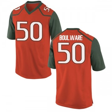 Youth Venzell Boulware Miami Hurricanes Nike Game Orange College Jersey