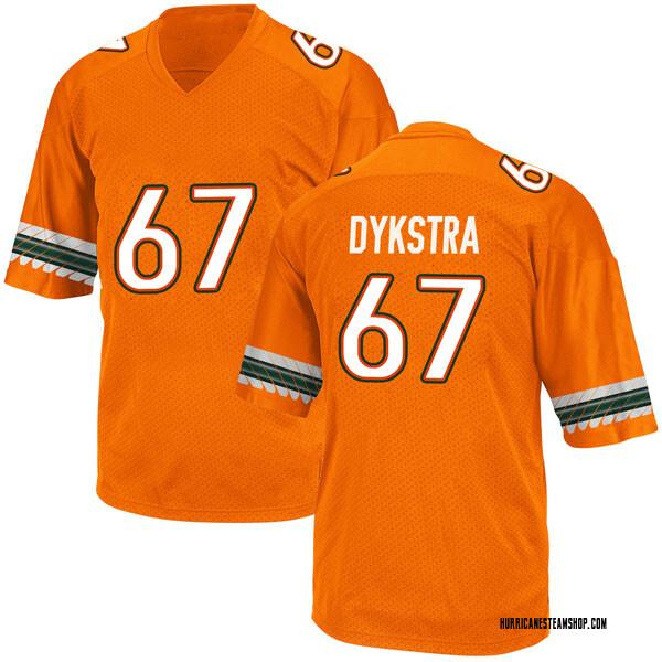 Youth Zach Dykstra Miami Hurricanes Adidas Game Orange Alternate College Jersey