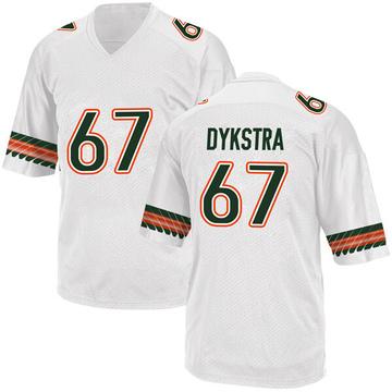 Youth Zach Dykstra Miami Hurricanes Adidas Replica White Alternate College Jersey